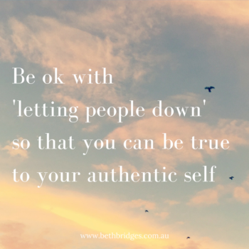 Letting people down