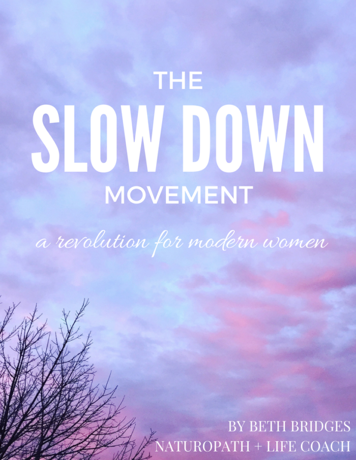 The Slow Down Movement
